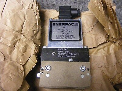 Enerpac 24VDC Solenoid 4 way 3 position Hydraulic Valve Cat. No. VP11 N.O.S.
