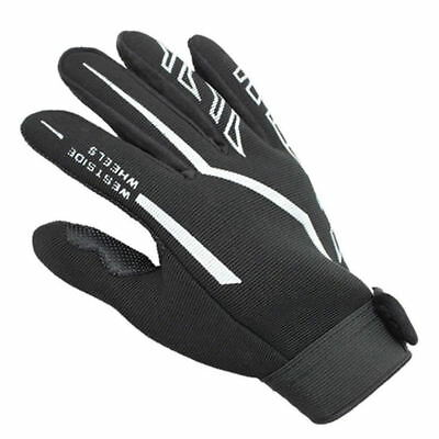 Fashion Mens Full Finger Sport Gloves Exercise Fitness Gym Gloves Black