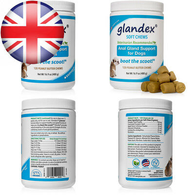Glandex® Soft Chews 120 Count, Anal Gland Fiber & Probiotic Digestive...