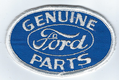 "Ford Genuine Parts Racing Jacket Patch 4"" x 2.5"" Sew On US FREE SHIPPING"