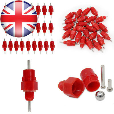 KEESIN 25 Pieces Chicken Duck Poultry Feeder Water Nipples Screw-in Style...