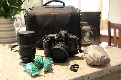 Canon T90 Camera (with 2x Lenses / Camera Case / Flash Unit ) with User Manual