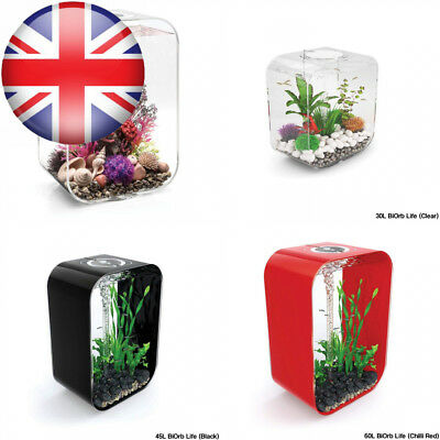 BiOrb LIFE 45L Clear Aquarium Fish Tank with Multi Colour LED Lighting