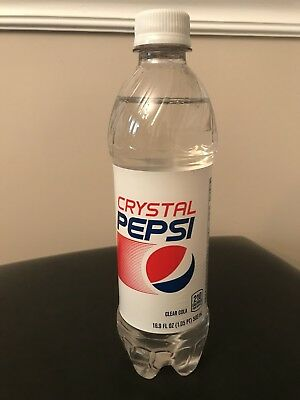 New Sealed 16.9 Oz Bottle of Crystal Pepsi  RARE Soda Exp. 1-23-2017 16 Oz