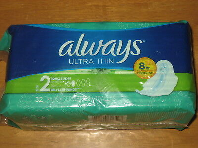 Always Ultra Thin Wings Long Super Overnight Sz 2 3 4 5 Maxi Pads 24 - 42 Count