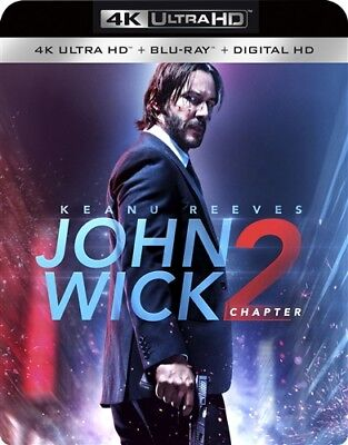 JOHN WICK CHAPTER 2 New Sealed 4K Ultra HD UHD + Blu-ray