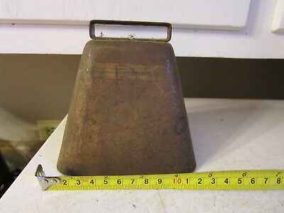 Vintage Antique Large Metal Cow Bell No Clapper Estate Find
