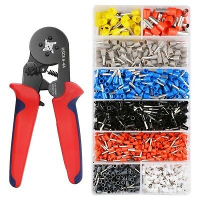 Crimper Plier Set 0.25-10mm2 Self-adjustable Ratchat Wire Crimping Tool wit M8B2