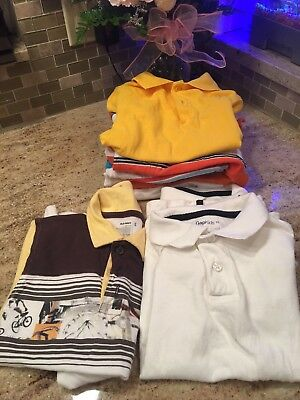 LOT 9 Boys SUMMER POLO SHIRTS ~ CHILDRENS PLACE/GAP KIDS/OLD NAVY SZ 4T & XS