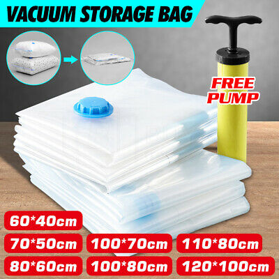 10X Vacuum Storage Bags Space Saver Seal Compressing Medium / Large / Jumbo