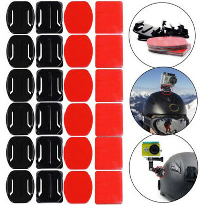 SALE 12 Helmet Flat Curved Adhesive Mounts Accessorie For Gopro Hero 2 3 3+4 5 6