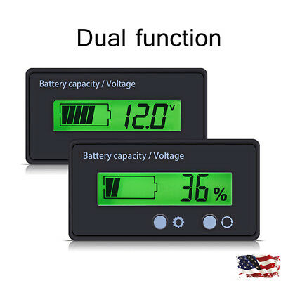 1-5Pcs Backlit LCD Display Battery Capacity Voltage Meter Test Voltmeter Monitor