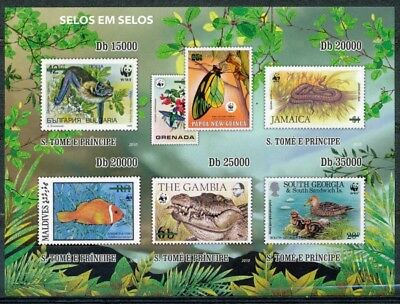 [35238] ND/Imperf- Sao Tome et Principe - ND/imperf - Animaux - Papillon - Serpe