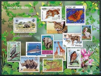[35242] ND/Imperf- Sao Tome et Principe - ND/imperf - Animaux - Tortue - Tigre -