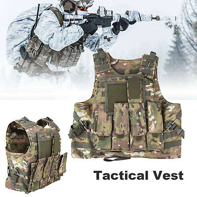 CP Camo SWAT Combat Molle Plate Military Army Airsoft Tactical Vest Hunting