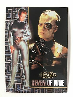Star Trek Voyager Profiles Seven of Nine Sonderkarte 2of9 Mint Trading Cards