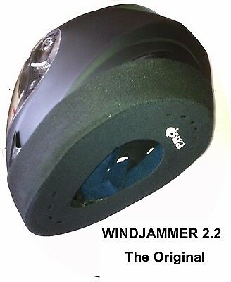 WINDJAMMER 2.2 Motor Cycle Helmet WIND & NOISE BLOCKER (FREE Shipping)
