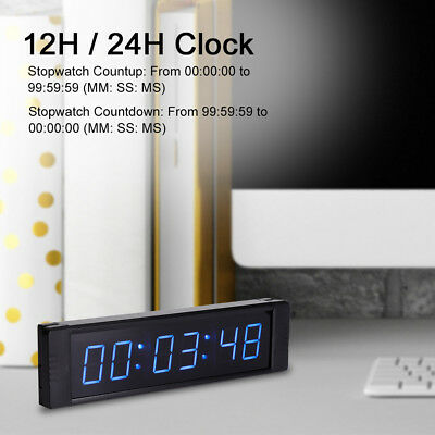 Programmable LED Remote Wall Clock Prscise Timer Stopwatch High Quality