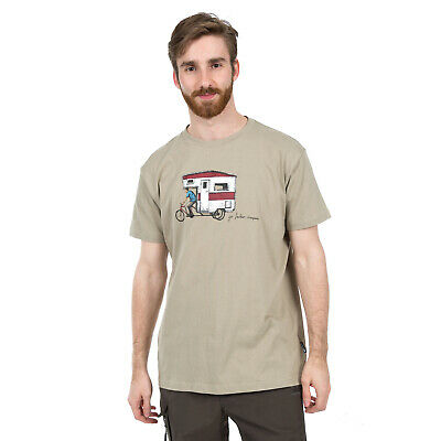 Trespass Gibson Mens T-Shirt Cotton Short Sleeve Tee Brown Cotton