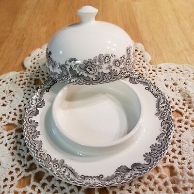 Spode Grey Delamere Rural Individual Covered Butter Pat Made In England New