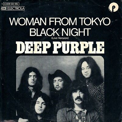 "7"" Deep Purple – Woman From Tokyo / Black Night (Live) // Germany 1973"