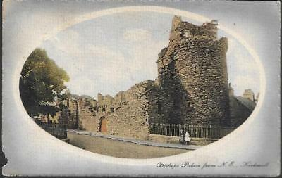 Kirkwall, Orkney - Bishops Palace -Valentines postcard, local pmk 1913 see cond.