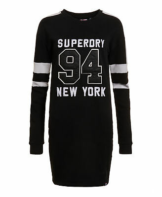 New Womens Superdry Factory Second Bronx Slouch Dress 90's Black