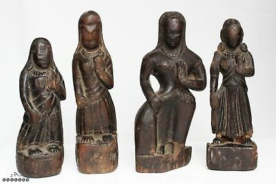 17th / 18th Century Early Indian Carved Wood Temple Figures