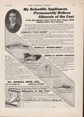 1912 Dr Scholl Foot Eazer Bunion Right Shield Medical Health Foot Care Ad19259