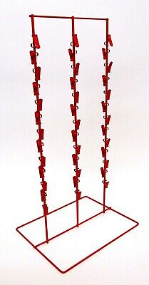 """Counter Chip and Snack Display Rack - 3 Strip 39 Clip 6"""" Apart  (Black)"""