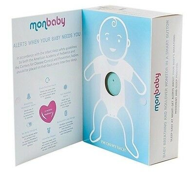Monbaby Smart Button Baby Breathing and Rollover Monitor White/Pink/Blue