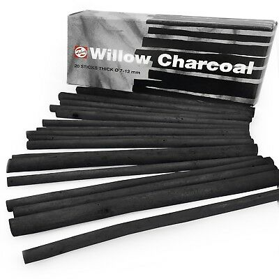 Royal Talens – Artist Sketching Willow Charcoal Sticks - Thick 7-12mm -Box of 20