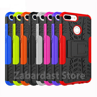 Heavy Duty  ShockProof Kickstand Case Military Builder Cover for Huawei P Smart