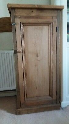 Antique style rustic farmhouse pine cupboard with 2 sturdy internal shelves