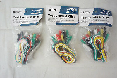 """(30 Pack Assorted) Mars 86070 Test Leads & Alligator Clips 18 AWG Length 18"""""""