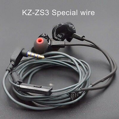 KZ ZS3 Headset Cable 2pin 0.75mm Silver Plated Cable Earphone Line Replacement