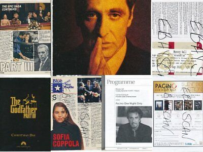 Al Pacino Toronto, Canada Package; Ticket-Playbill-Godfather Ad Plus-2013-#724