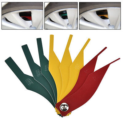 Automotive Brake Pad Feeler Lining Thickness Gauge Measure Tool 2-12mm 8 in1 Set