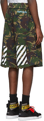 OFF-WHITE VIRGRGIL ABLOH  Oversized Camouflage Diagonal Shorts Authentic NWT XS