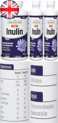 Natures Aid Inulin Powder 250g (PACK OF 2)