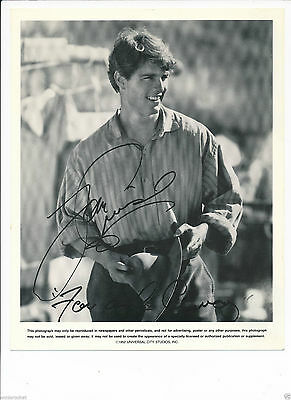 """Tom Cruise Far And Away  8""""X10"""" B & W Universal Reprint Signed Photo-1992-#693"""