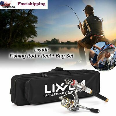 Lixada Telescopic Fishing Rod and Reel Combo Full Kit Spinning Fishing Reel C8L4