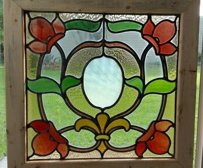 Antique English  Stained Glass Window