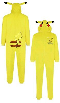 Pokemon Pikachu All-in-one One Piece Women's Primark Pyjama Pajamas Adult