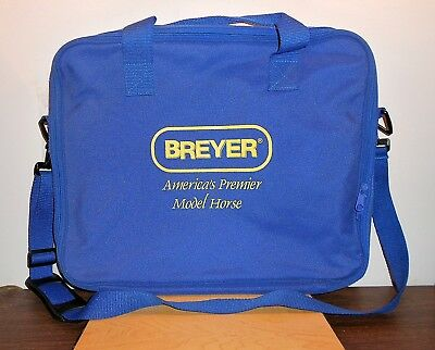 "BREYER HORSE CANVAS BAG (NEW), ZIPPER OPENING,TWO STRAPS, size 16 1/2"" x 13"""
