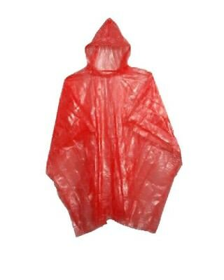 2 Pack of disposable emergency rain ponchos with hood