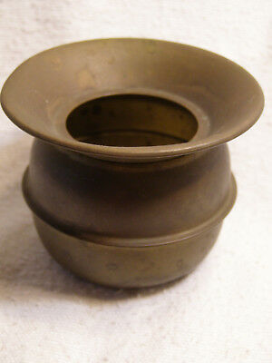 "Vintage Small Petite Solid Brass Spitoon 2-1/4"" Tall 2-7/8"" Diameter Rim"