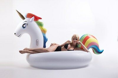 Giant 9ft Inflatable Unicorn Pool Float Fun Party Toy with a carrying bag