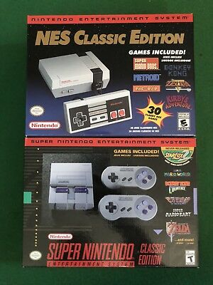 Unopened NIB NES Classic Edition and Super Nintendo Classic Edition 2 pack.