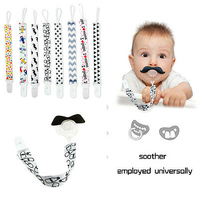Plastic Baby Kids Dummy Pacifier Soother Nipple Leash Strap Chain Clip Holders